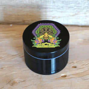 OCG Grinder - HONEYBEE (Full-Color) - 4 Piece - BLACK