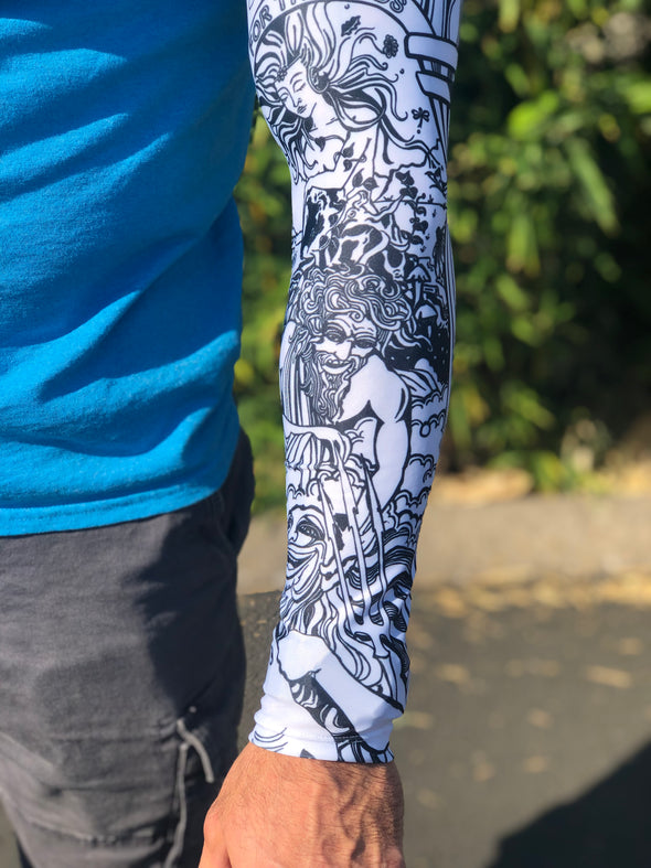 Nectar For The Gods Collage UV Protective Arm Sleeve