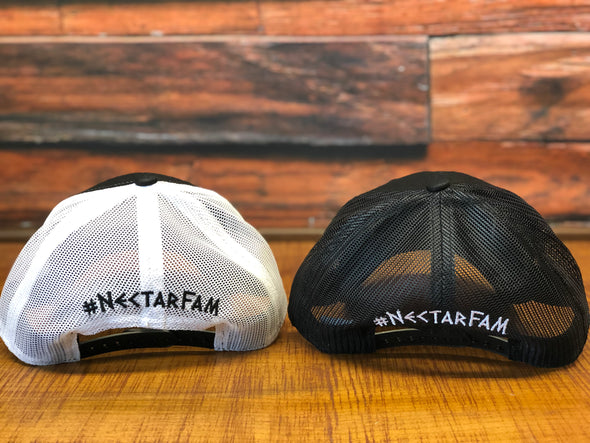 NFTG Trucker Hat - BLACK/WHITE OR BLACK/BLACK Snapback