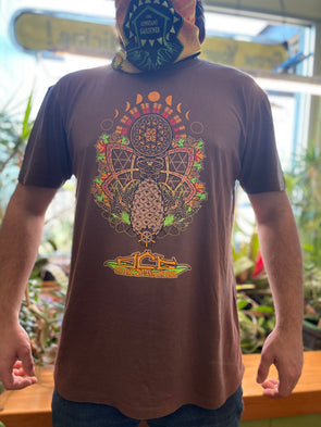 OCG Shirt - PINECONE ART - Unisex Short Sleeve BROWN