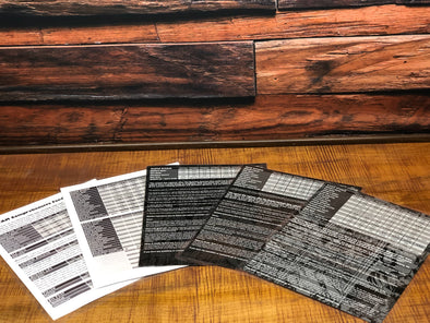 Set Of All 5 NFTG Laminated Feeding Charts!!!