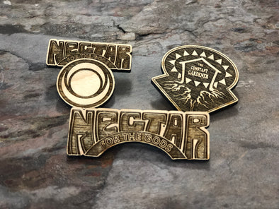 Set Of All 3 Nectar & Constant Gardener Wood Pins!
