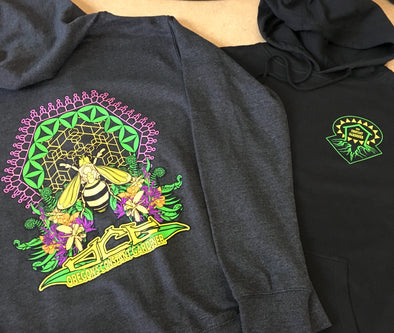 OCG Hoodie : CHARCOAL Honey Bee : Unisex PULLOVER
