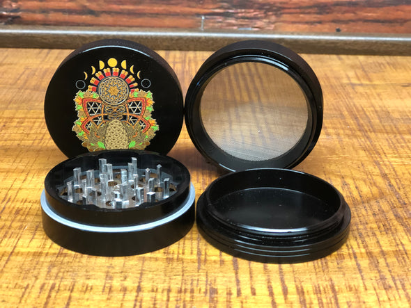 OCG Grinder - PINECONE (Full-Color) - 4 Piece - BLACK