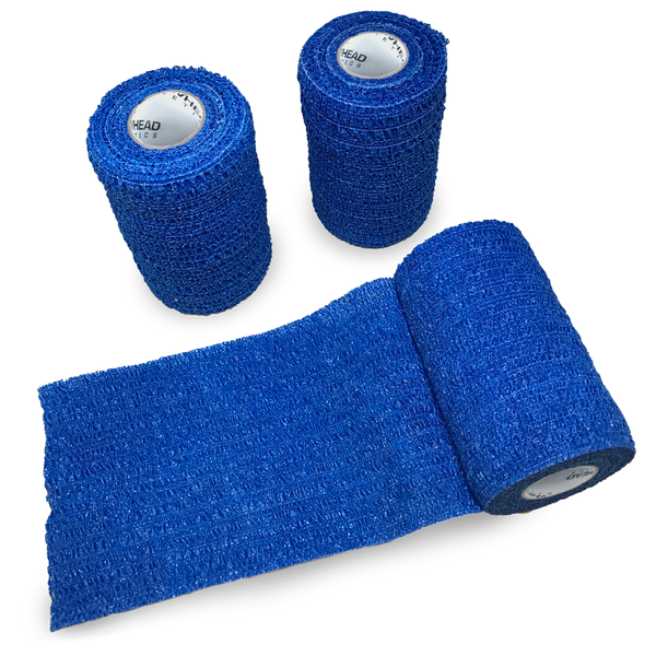"Arrow-Vet-Co Cohesive Stretch & Tear Vet Wrap, Blue 2"" or 4"" x 5 yds, Arrowhead Animal Health"