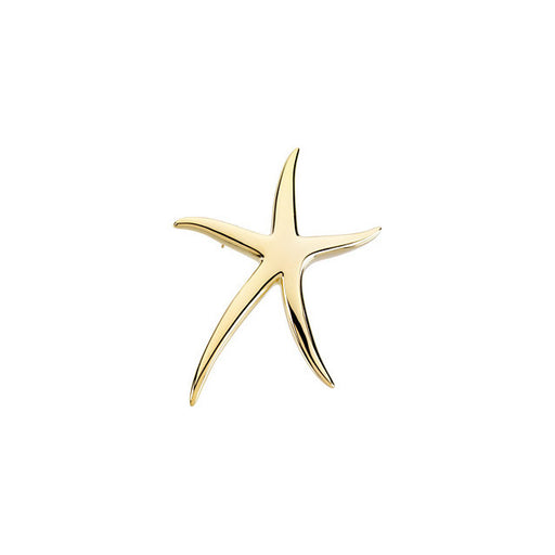 14K Yellow Starfish Brooch / Pendant-Pins-Needjewelry.com