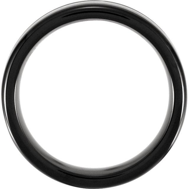Cobalt 7.5mm Grooved Black PVD Design Band - VERY LIMITED QUANTITY-Rings-Needjewelry.com