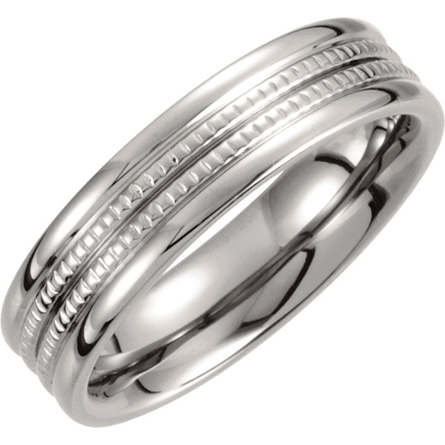 Titanium 6mm Grooved Band - VERY LIMITED QUANTITIES-Rings-Needjewelry.com