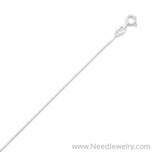 012 Box Chain Necklace (0.7mm)-Chains-Needjewelry.com
