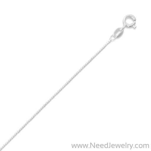 015 Box Chain Necklace (0.8mm)-Chains-Needjewelry.com