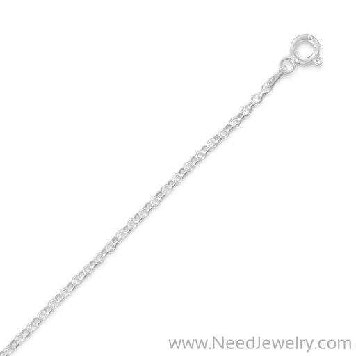 030 Rolo Chain Necklace (2mm)-Chains-Needjewelry.com