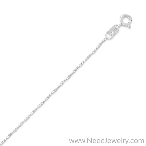 035 Twisted Serpentine Chain Necklace (1mm)-Chains-Needjewelry.com