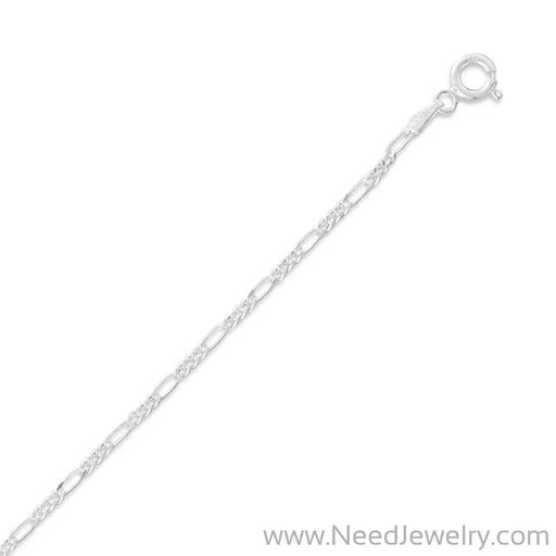 050 Figaro Chain (1.7mm)-Chains-Needjewelry.com