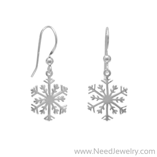 Small Snowflake Earrings-Earrings-Needjewelry.com