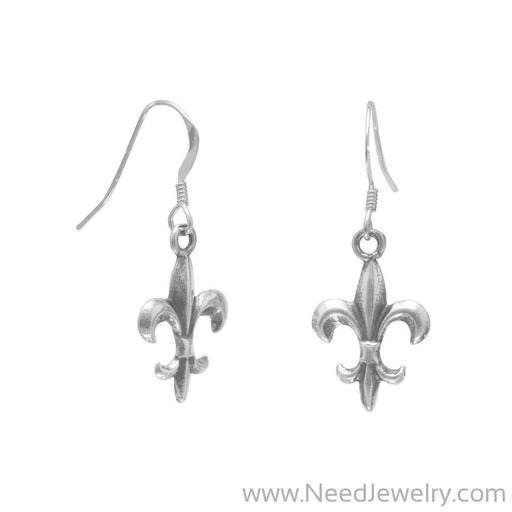 Fleur de Lis Earrings on French Wire-Earrings-Needjewelry.com