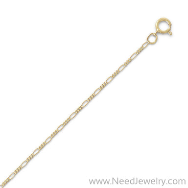 14/20 Gold Filled Figaro Chain Necklace (1.8mm)-Chains-Needjewelry.com