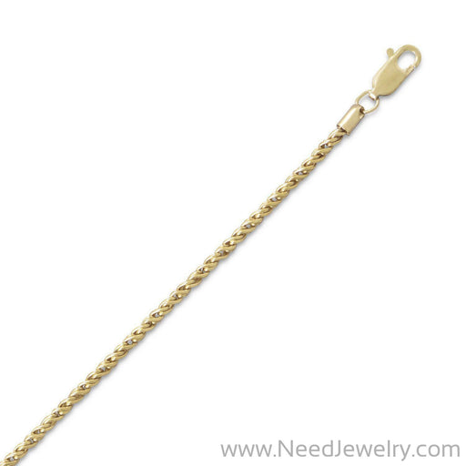 14/20 Gold Filled Reverse Twisted Rope Chain Necklace (2.1mm)-Chains-Needjewelry.com