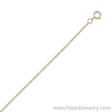 14/20 Gold Filled Rope Chain Necklace (1.1mm)-Chains-Needjewelry.com