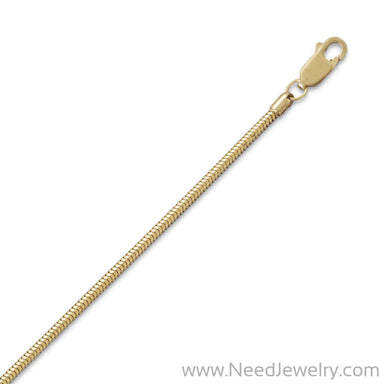 14/20 Gold Filled Snake Chain (2mm)-Chains-Needjewelry.com