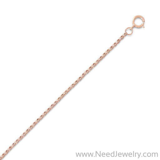 14/20 Pink Gold Filled 020 Rolo Chain Necklace (1mm)-Chains-Needjewelry.com