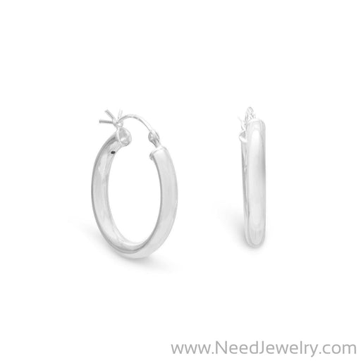 3mm x 22mm Small Hoop Earrings with Click-Earrings-Needjewelry.com