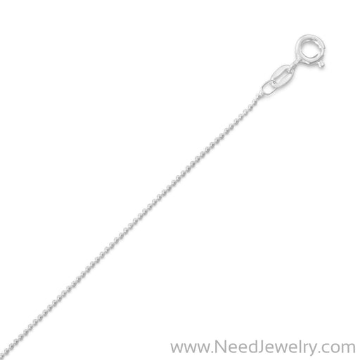 1mm Bead Chain Necklace-Chains-Needjewelry.com