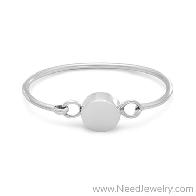 "4.5""-5"" Round Engravable Bangle-Bracelets-Needjewelry.com"