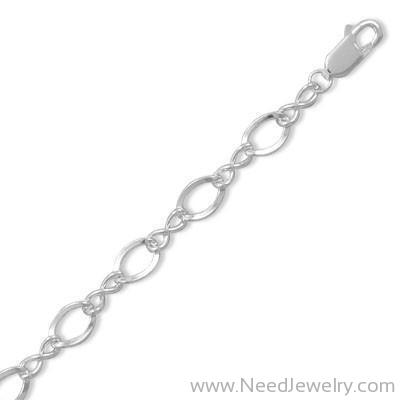 "8"" Polished Figure 8 Charm Bracelet-Bracelets-Needjewelry.com"