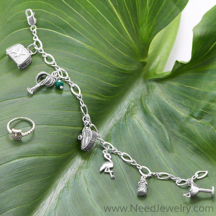 "9"" Polished Figure 8 Charm Bracelet-Chains-Needjewelry.com"