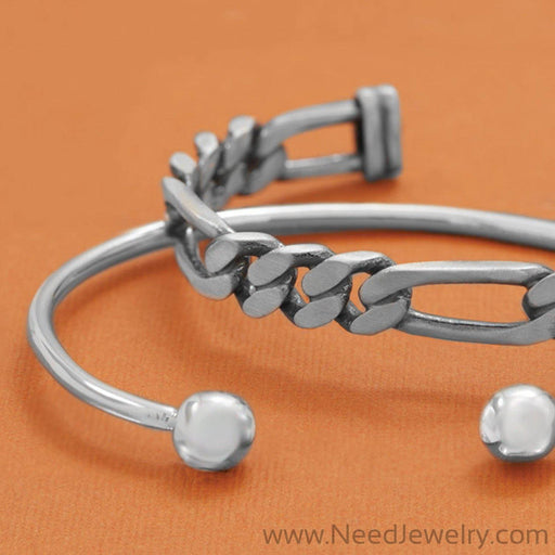 Men's Cuff Bracelet with Ball Ends-Bracelets-Needjewelry.com
