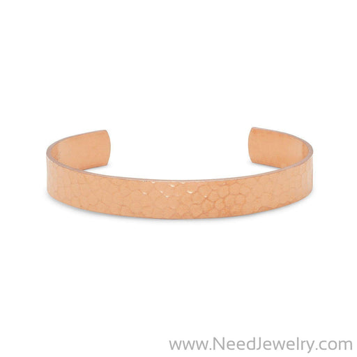 9.5mm Hammered Solid Copper Cuff-Bracelets-Needjewelry.com