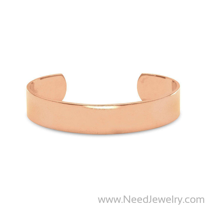 Polished Solid Copper Cuff Bracelet-Bracelets-Needjewelry.com
