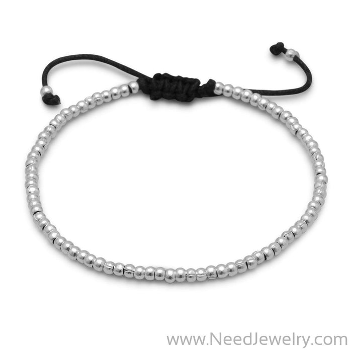 Adjustable Textured Bead Bracelet-Bracelets-Needjewelry.com
