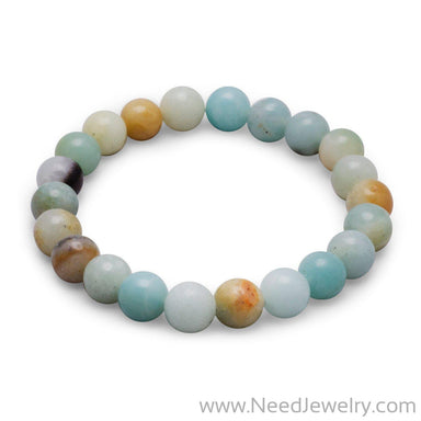 Amazonite Stretch Bracelet-Bracelets-Needjewelry.com