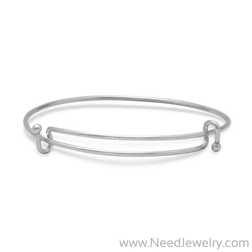 Double Hook Expandable Wire Bangle-Story beads-Needjewelry.com