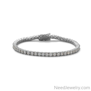 "Item # [sku} - 7"" Rhodium Plated 3mm CZ Tennis Bracelet on NeedJewelry.com"