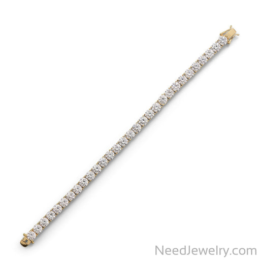 "Item # [sku} - 7.5"" Gold Plated 6mm CZ Tennis Bracelet on NeedJewelry.com"