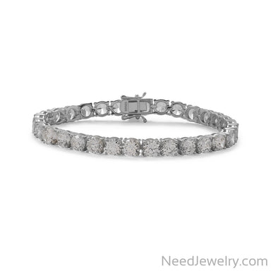 "Item # [sku} - 7.5"" Rhodium Plated 6mm CZ Tennis Bracelet on NeedJewelry.com"