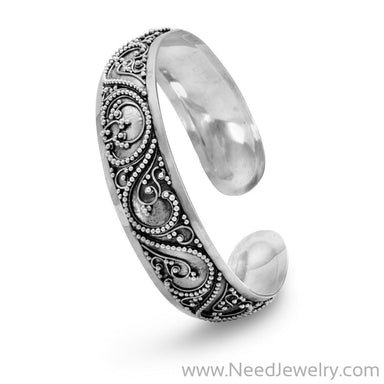 Cuff with Bead Filigree Design-Bracelets-Needjewelry.com