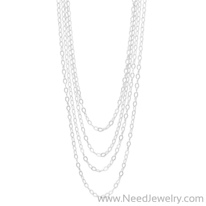 "100"" Open Link Cable Necklace-Chains-Needjewelry.com"