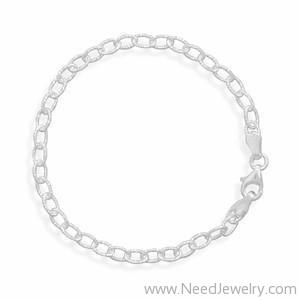 Oval Diamond Cut Link Chain-Necklaces-Needjewelry.com