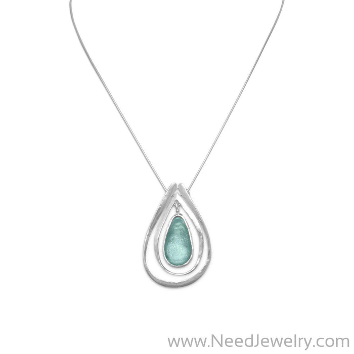 "18"" Necklace with Ancient Roman Glass and Cut Out Design Pendant-Necklaces-Needjewelry.com"