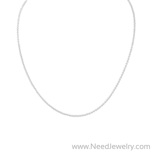 "13""+1"" Extension Rolo Chain Necklace-Chains-Needjewelry.com"