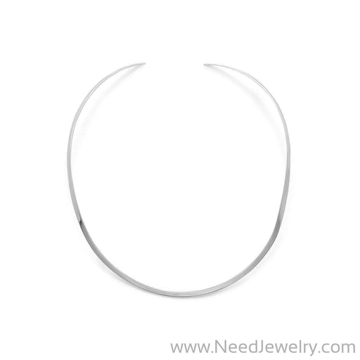 3.5mm Polished Open Back Collar-Necklaces-Needjewelry.com