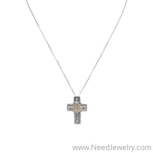 "16.5"" Cross and Ancient Coin Necklace-Necklaces-Needjewelry.com"