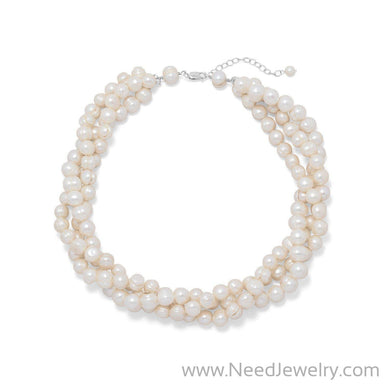 "18""+2"" Multistrand Cultured Freshwater Pearl Necklace-Necklaces-Needjewelry.com"