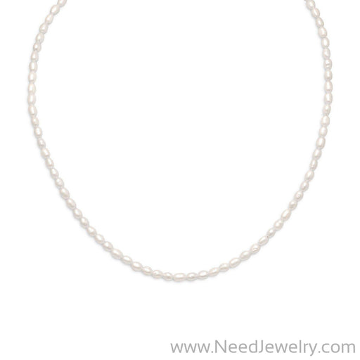 "13""+2"" 14/20 Gold Filled Cultured Freshwater Rice Pearl Necklace-Necklaces-Needjewelry.com"