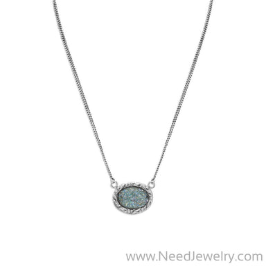 "18"" Oval Roman Glass Necklace-Necklaces-Needjewelry.com"