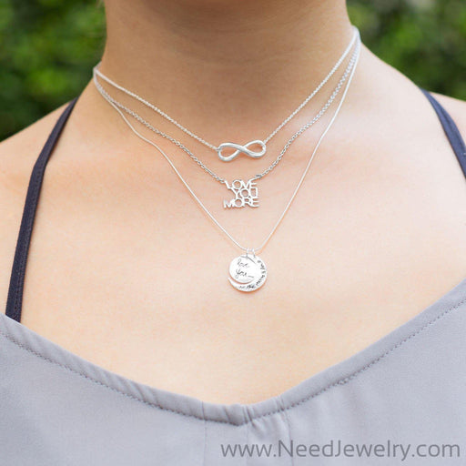 "16"" + 2"" ""LOVE YOU MORE"" Necklace-Necklaces-Needjewelry.com"