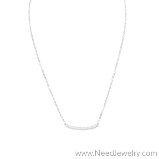 Faceted Clear Quartz Bead Necklace - April Birthstone-Necklaces-Needjewelry.com